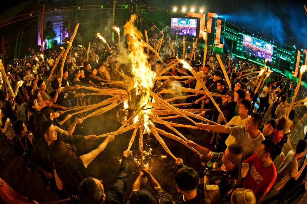 民族村特色节庆活动——火把节