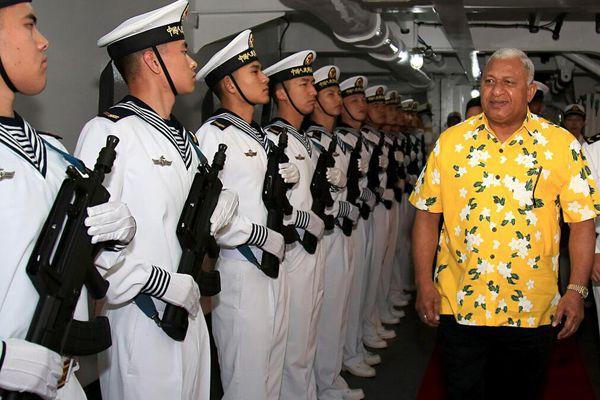 斐济总理高度赞誉中国和平方舟再次到访