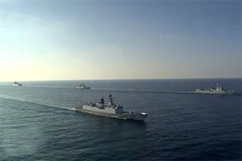 中国海军第30批护航编队启程赶赴亚丁湾