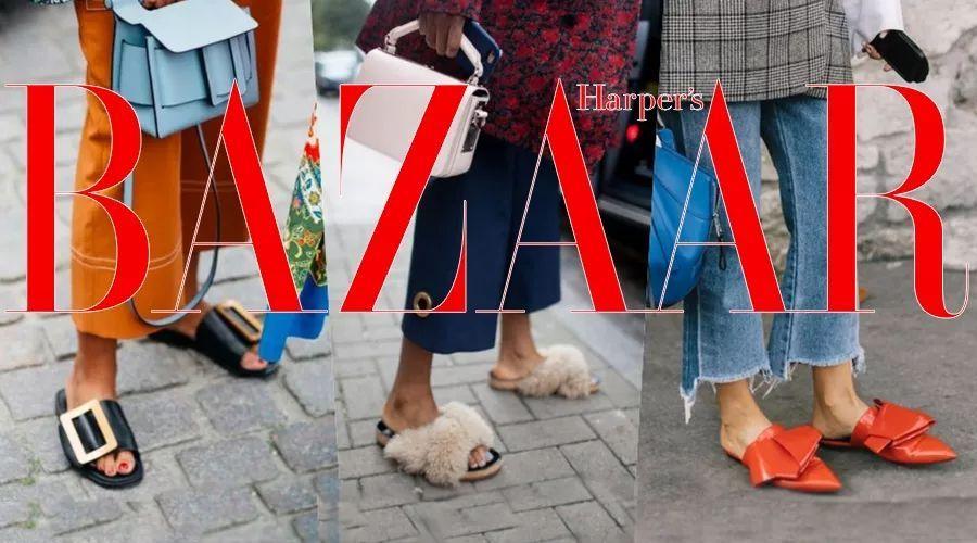 这个夏天最时髦的鞋子,当属上得厅堂入得厨房的平底拖!