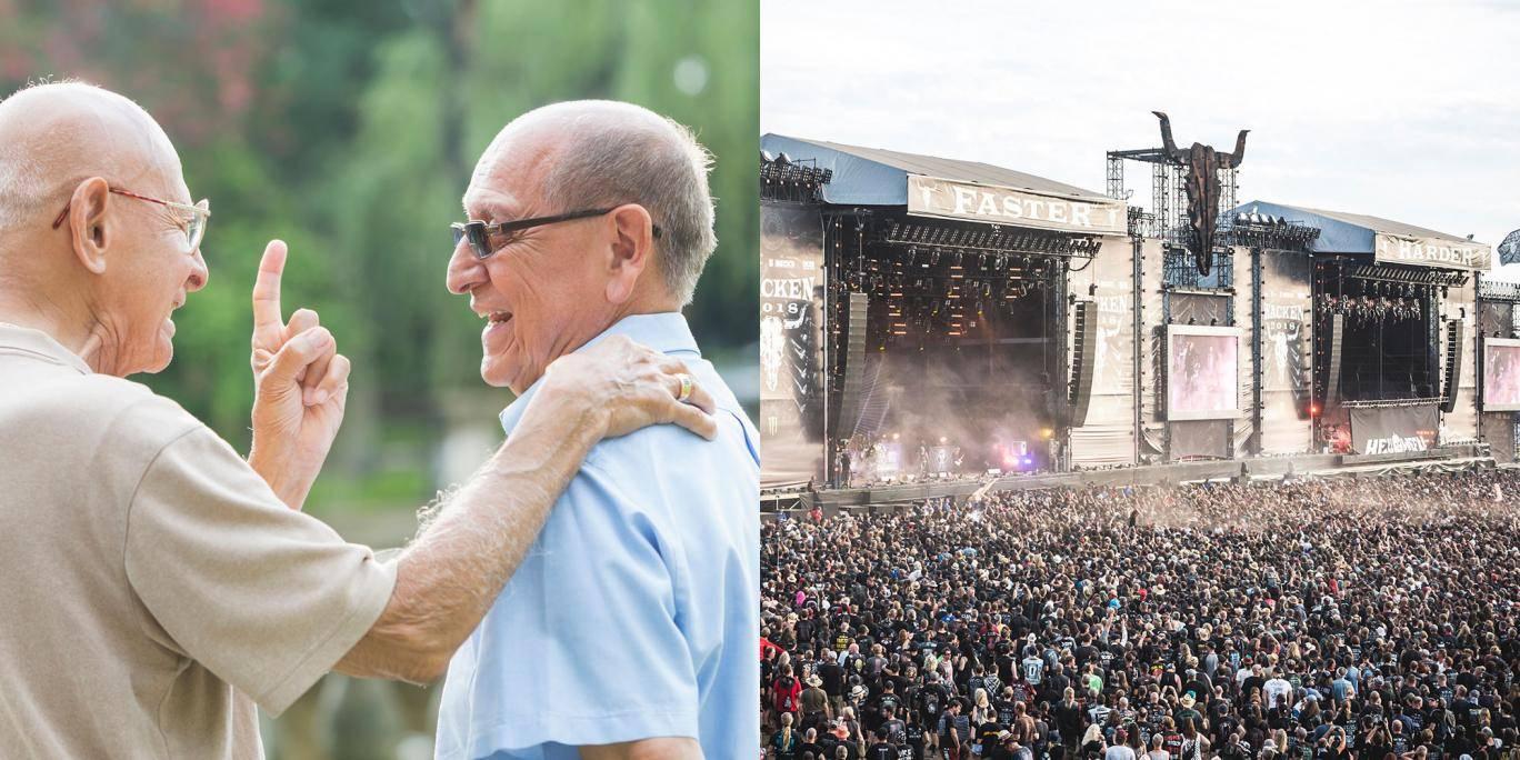 德国两位老人逃离养老院 只为参加重金属音乐节