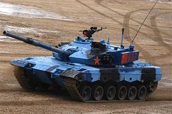 """""""消防涂装""""再见!参赛96B坦克换上蓝迷彩涂装"""