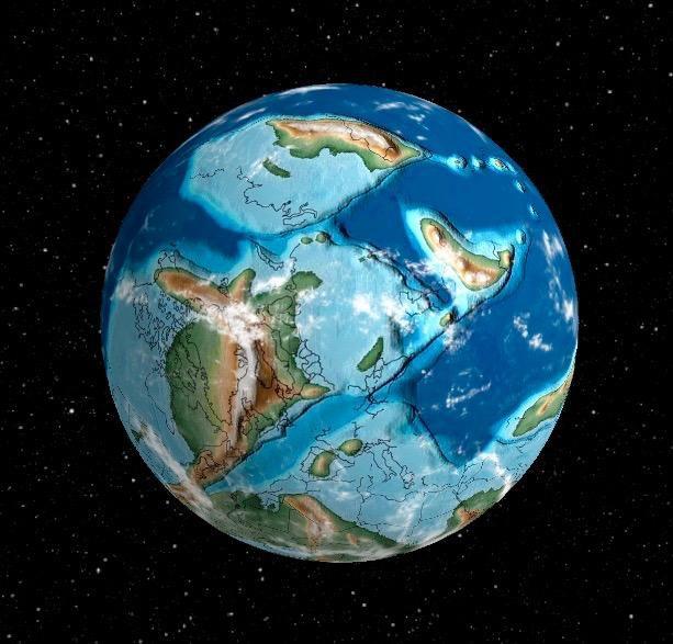 被恐龙统治的地球从太空看起来是什么样的?