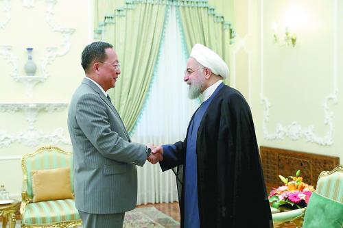 朝鲜外相敏感时刻访伊朗