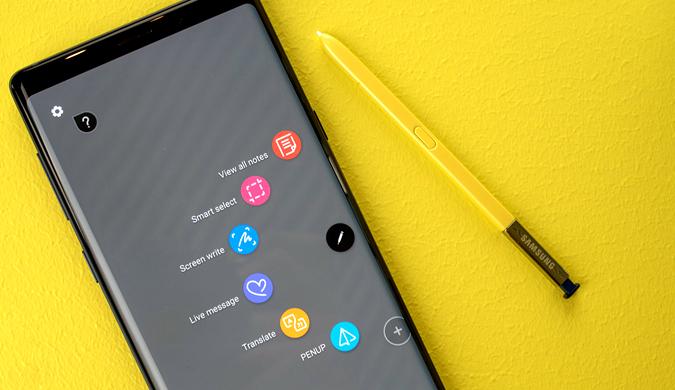 三星Galaxy Note 9真机实拍:S Pen配色亮眼