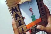 委内瑞拉小伙用纸板瓶盖自制超级马里奥游戏