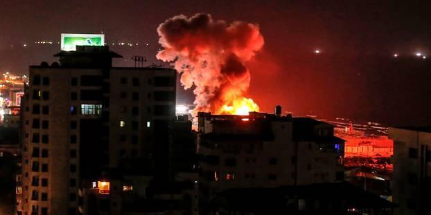 以色列空袭加沙以回击哈马斯 致巴勒斯坦3死6伤