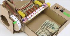如何用纸板制作数钱机?