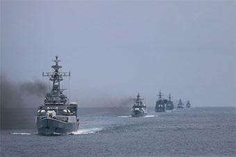 南海舰队护卫舰支队进行实战化训练