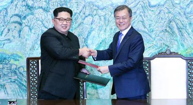 """韩媒:第三次""""文金会""""有望化解无核化僵局"""