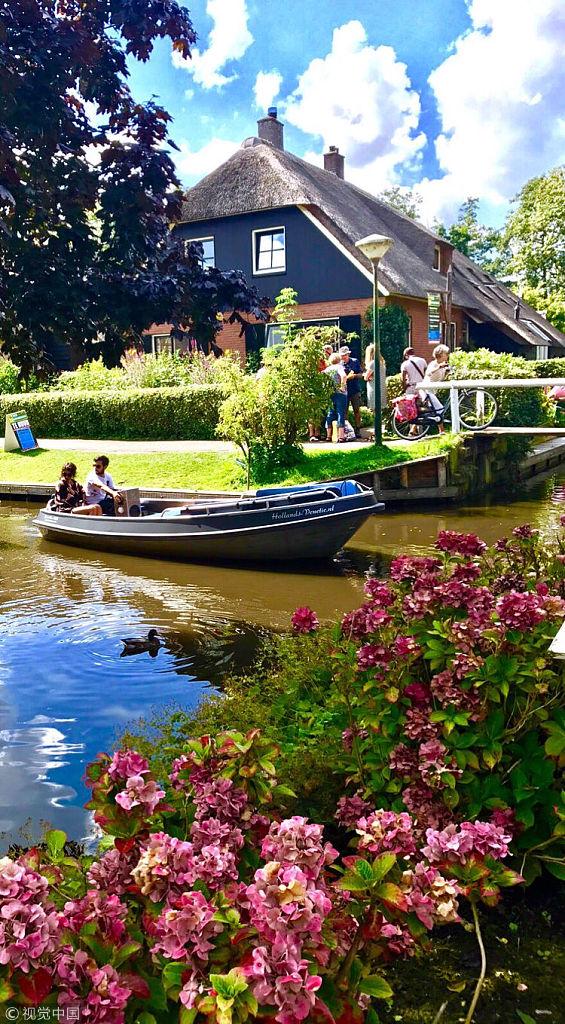 荷兰羊角村的小桥流水人家
