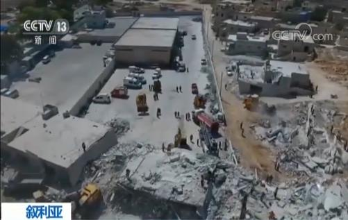 叙一弹药库爆炸 造成12名儿童死亡 两栋楼倒塌