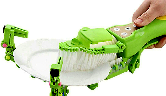 """日本推出全自动手持洗碗神器 堪称""""懒人福音"""""""