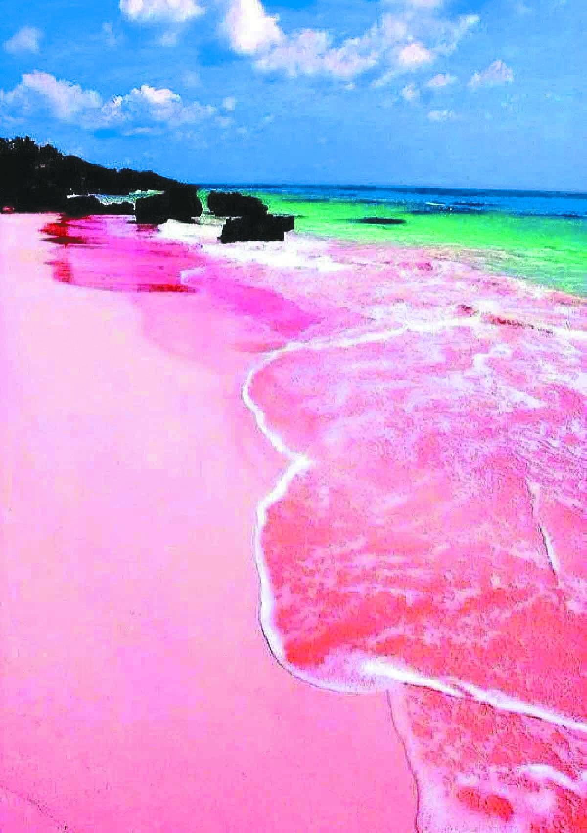 世界最性感沙滩,一片粉红