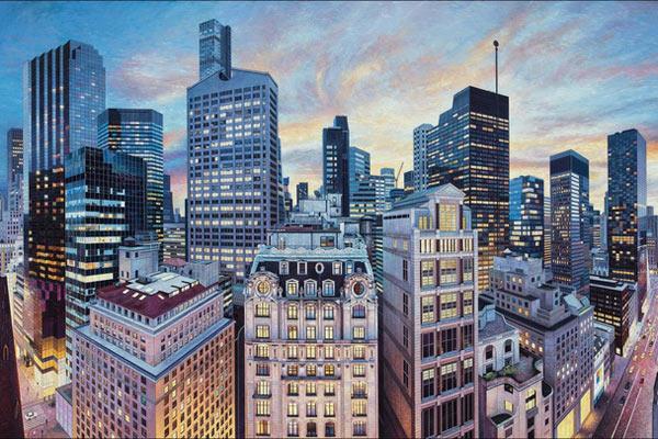 远超摄影的多重视角!英艺术家描绘纽约大都会景致