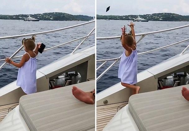 俄4岁女童为吸引父亲注意 将其手机扔进海里