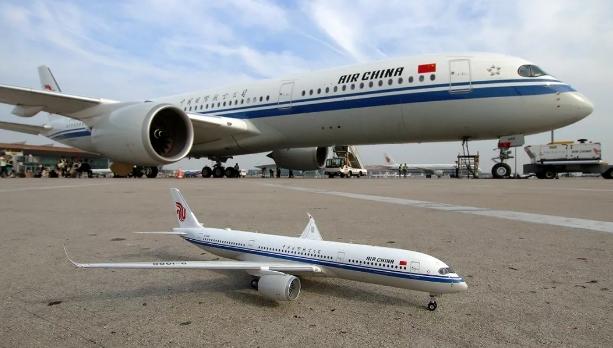 国航首架A350客机成功首航 最大航程达15000公里