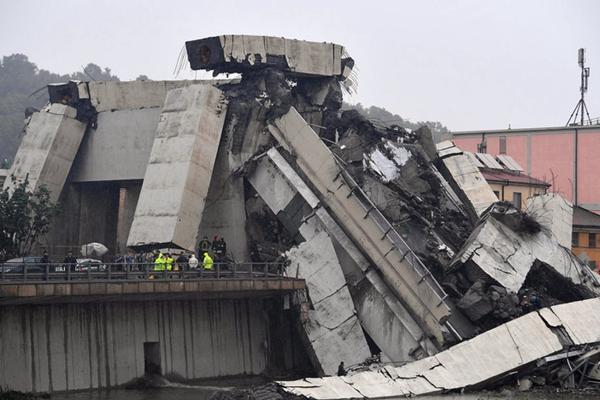 意大利高架桥坍塌 交通部官员:至少35死 死亡人数还会上升