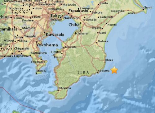 日本千叶县附近海域5.1级地震 震源深度47.8公里
