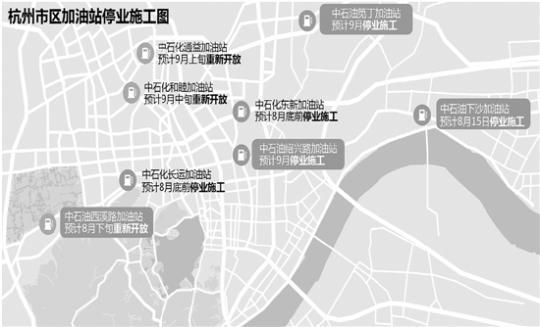杭州哪些加油站停业改造,看仔细