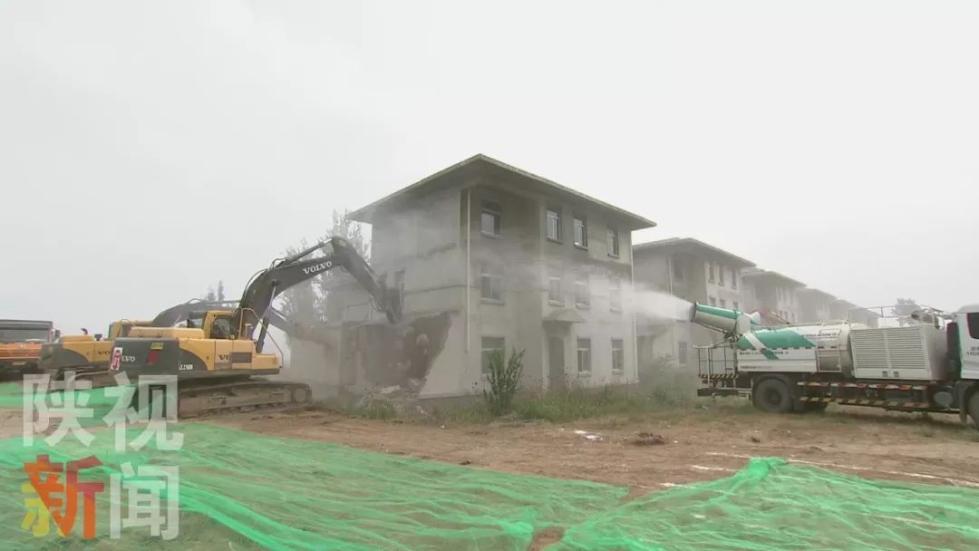 西安秦岭北麓集中拆违行动打响头炮 14栋违建别墅 5处违建被拆除