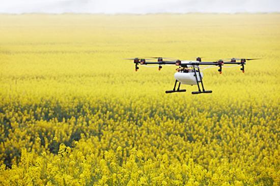 无人机帮助农民减少水资源利用