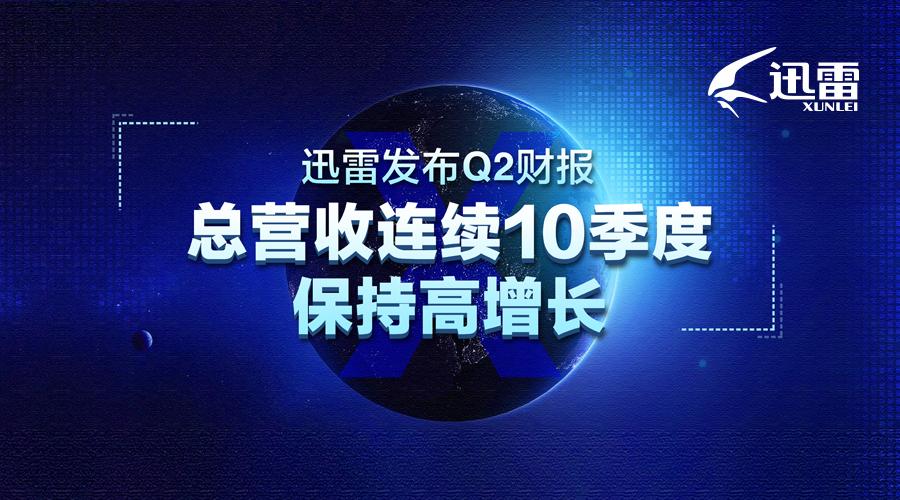 迅雷发布Q2财报 总营收连续10季度保持高增长