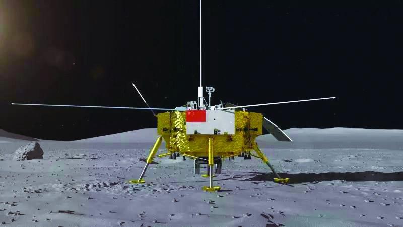 探月工程嫦娥四號著陸器、月球車外形曝光(圖)