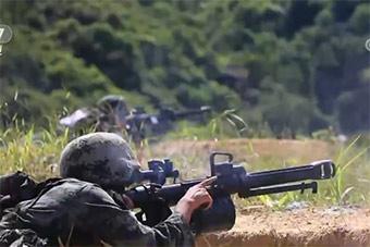 驻港部队陆海空3军组织比武活动