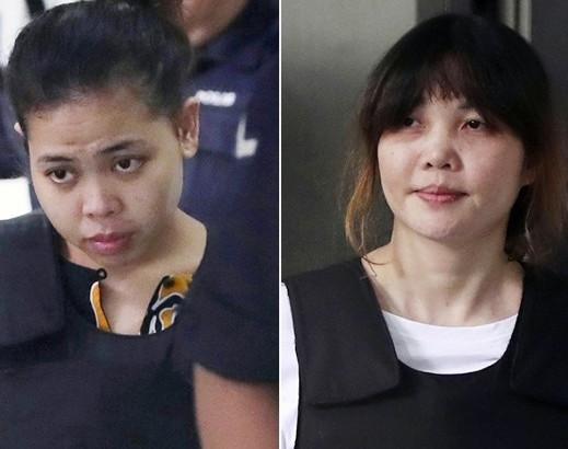 金正男遇刺案进展:两名女被告谋杀罪名成立