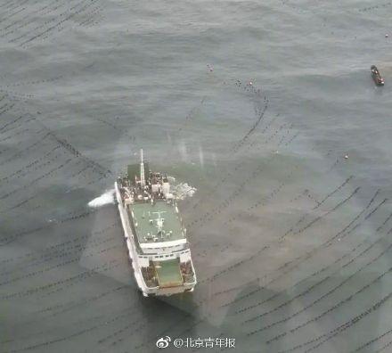 """烟台""""和航兴龙""""号客船成功解困,284名乘客和船员脱险"""