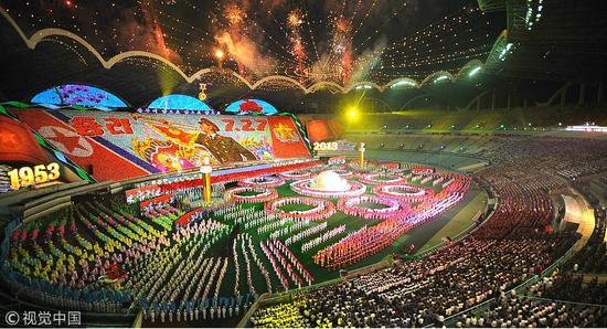 朝鲜建国70周年团体操门票开售 最低近800元