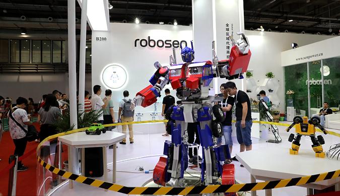2018世界机器人大会开幕 各家机器人尽炫绝技
