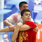 孙杨领衔游泳队训练备战