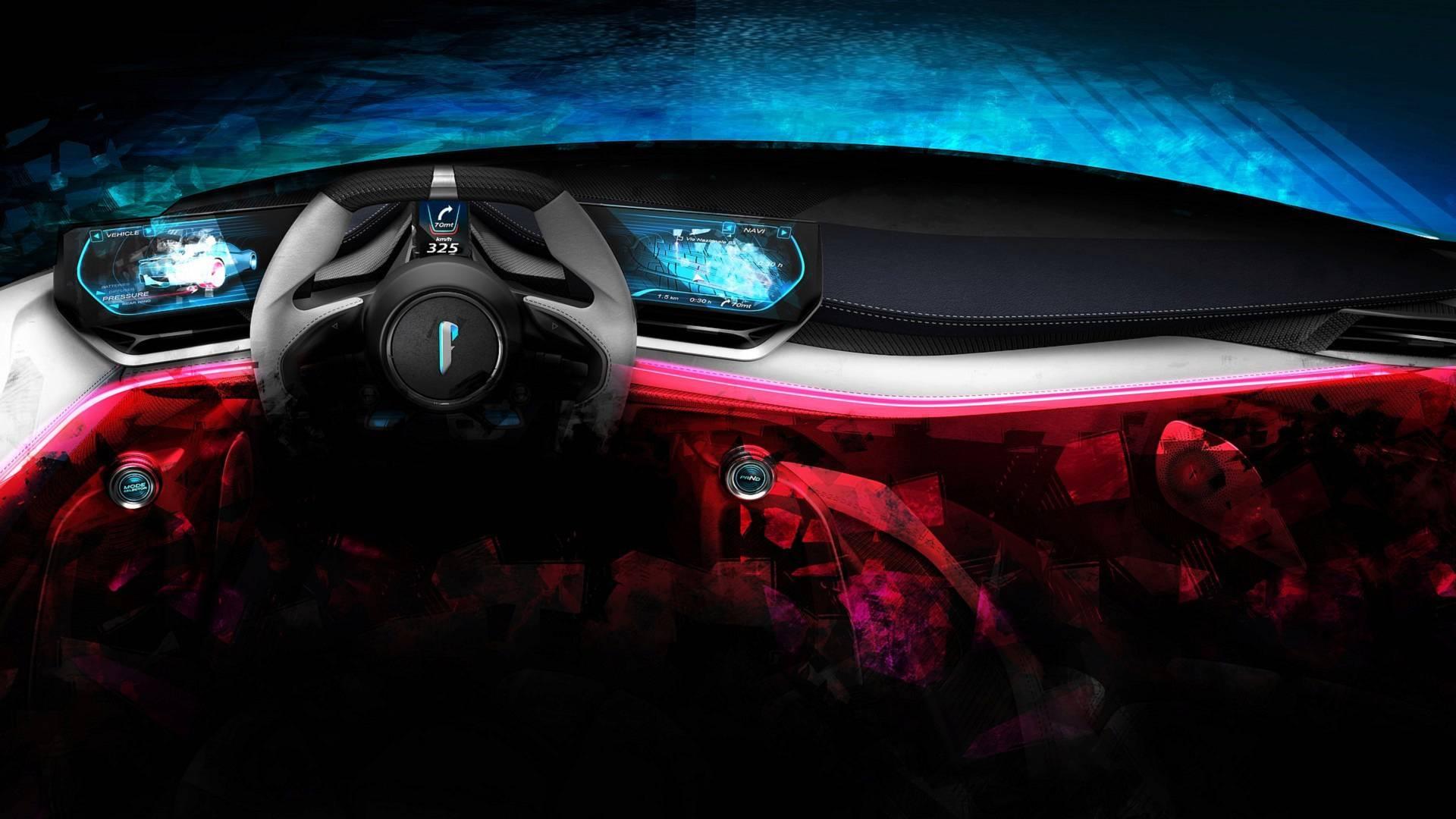 宾尼法利纳PF0电动超跑内饰公布 极简未来主义设计