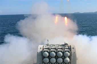 舰艇编队海上实弹射击高潮迭起