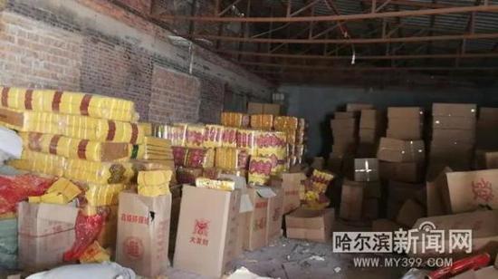 哈尔滨缴1525箱冥纸冥币 有商户销售数量大被立案