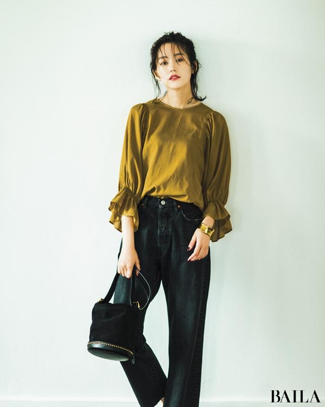 桐谷美玲拍杂志 示范秋季时髦单品