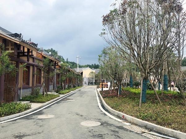 晴隆县阿妹戚托特色小镇三区建设完成