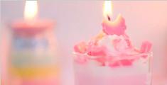 七夕节手工制作浪漫的蜡烛
