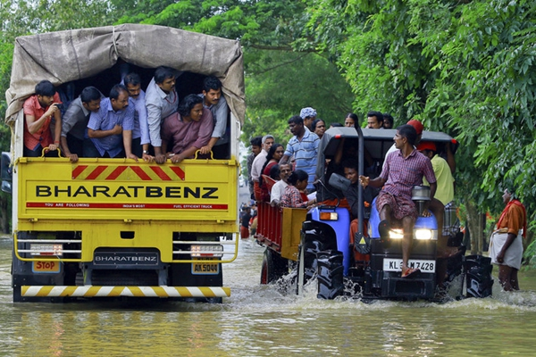 百年来最严重!印度喀拉拉邦5月底以来洪灾已致300多人死亡
