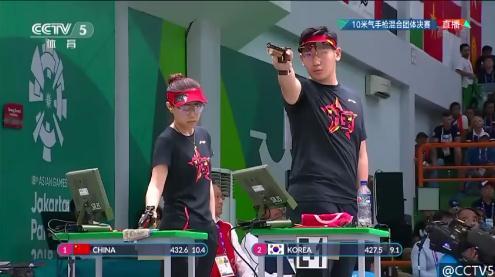 再获金牌!中国队射击10米气手枪混合团体决赛夺冠