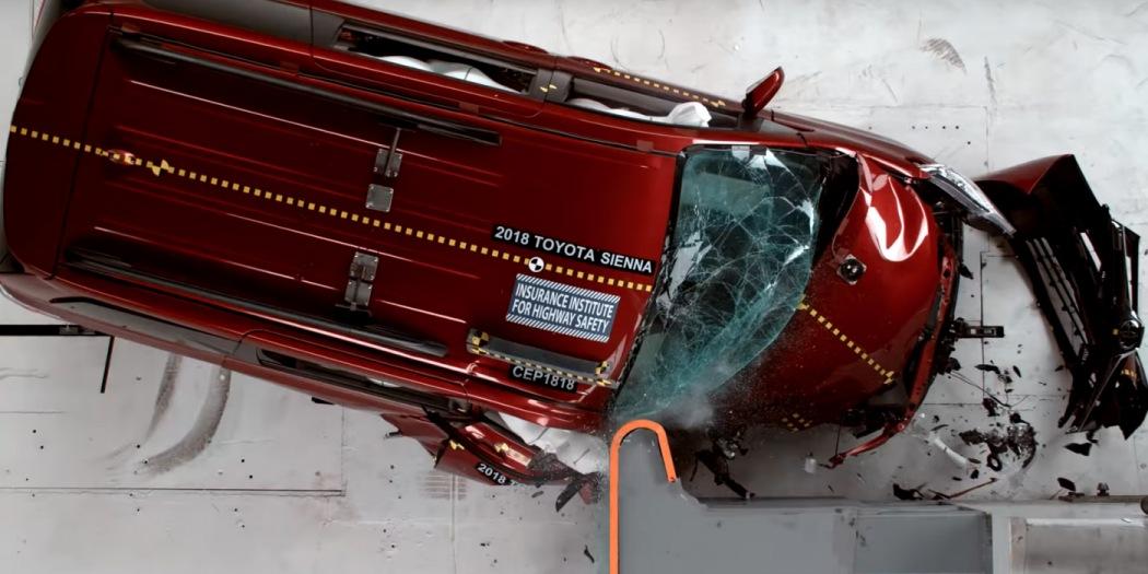 三款热门MPV在美接受碰撞测试 丰田塞纳得分最低