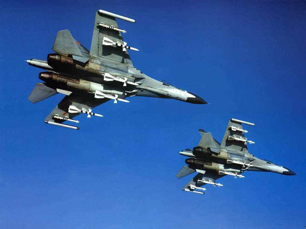 俄媒:参加上合军演中国战机群已经抵达演习场