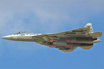 俄苏-57五代机5号机挂载神秘吊舱罕见露面