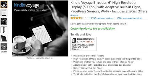 外媒:Kindle Voyage成绝版 亚马逊已全线停售