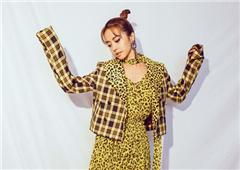 蔡依林最新写真豹纹长裙