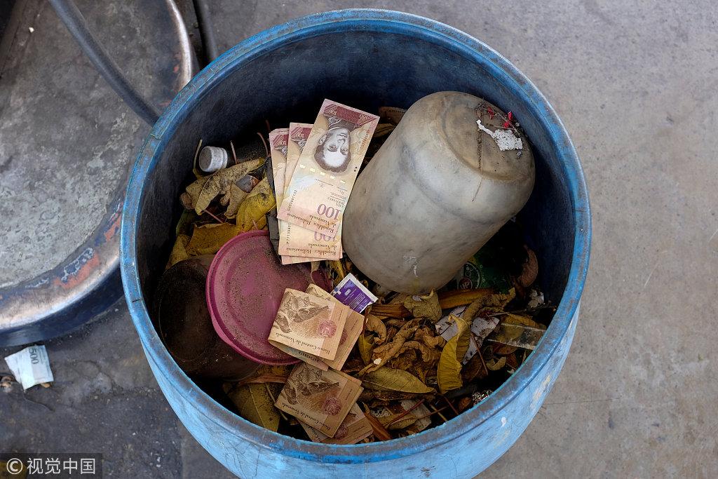 委内瑞拉经济危机货币贬值如废纸 民众涌入周边国家
