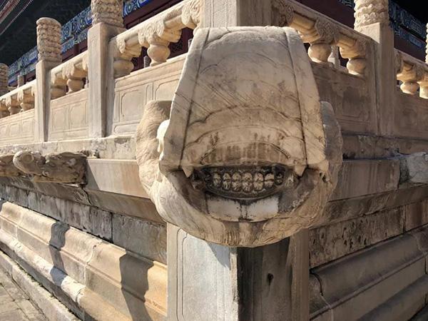 太庙32尊螭兽该洗牙了?文物专家:清洗过度易伤本体