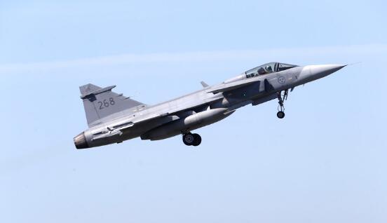 瑞典一架战斗机撞鸟后坠机 飞行员被送医救治